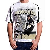 Levelwear Men's Pittsburgh Penguins Evgeni Malkin #71 Center Ice White T-Shirt