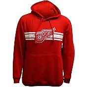 Levelwear Men's Detroit Red Wings Bar Stripe Red Hoodie
