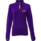 Levelwear Women's LSU Tigers Purple Pacer Quarter-Zip