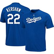 Majestic Triple Peak Men's Los Angeles Dodgers Clayton Kershaw Royal T-Shirt