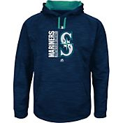 Majestic Men's Seattle Mariners Therma Base On-Field Navy Authentic Collection Pullover Hoodie