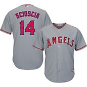 Majestic Men's Replica Los Angeles Angels Mike Scioscia #14 Cool Base Road Grey Jersey