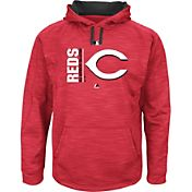 Majestic Men's Cincinnati Reds Therma Base On-Field Red Authentic Collection Pullover Hoodie