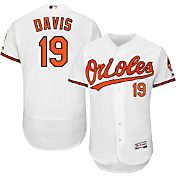 Majestic Men's Authentic Baltimore Orioles Chris Davis #19 Home White Flex Base On-Field Jersey