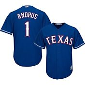 Majestic Men's Replica Texas Rangers Elvis Andrus #1 Cool Base Alternate Royal Jersey