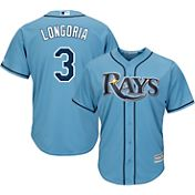 Majestic Men's Replica Tampa Bay Rays Evan Longoria #3 Cool Base Alternate Light Blue Jersey