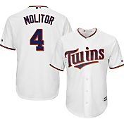 Majestic Men's Replica Minnesota Twins Paul Molitor #4 Cool Base Home White Jersey