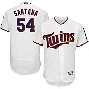 Majestic Men's Authentic Minnesota Twins Ervin Santana #54 Home White Flex Base On-Field Jersey