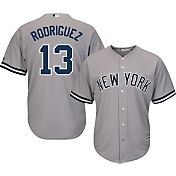 Majestic Men's Replica New York Yankees Alex Rodriguez #13 Cool Base Road Grey Jersey