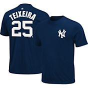 Majestic Triple Peak Men's New York Yankees Mark Teixeira Navy T-Shirt