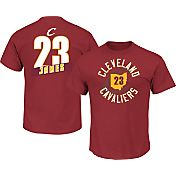 Majestic Men's Cleveland Cavaliers LeBron James #23 Burgundy T-Shirt