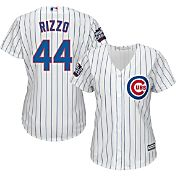 Majestic Women's 2016 World Series Replica Chicago Cubs Anthony Rizzo #44 Cool Base Home White Jersey