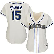 Majestic Women's Replica Seattle Mariners Kyle Seager #15 Cool Base Home White Jersey