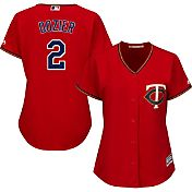 Majestic Women's Replica Minnesota Twins Brian Dozier #2 Cool Base Alternate Red Jersey