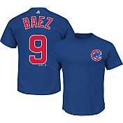 Majestic Youth Chicago Cubs Javier Baez #9 Royal T-Shirt