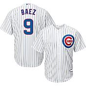 Majestic Youth Replica Chicago Cubs Javier Baez #9 Cool Base Home White Jersey