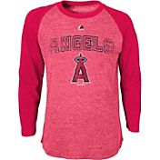 Majestic Youth La Angels Red Raglan Long Sleeve Shirt