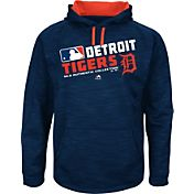 Majestic Youth Detroit Tigers On-Field Navy Authentic Collection Pullover Hoodie