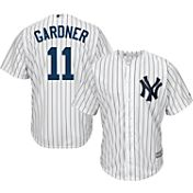 Majestic Youth Replica New York Yankees Brett Gardner #11 Cool Base Home White Jersey