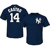 Majestic Youth New York Yankees Starlin Castro #14 Navy T-Shirt