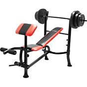 Marcy Competitor Pro Standard Bench with 100 lb. Weight Set