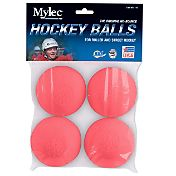 Mylec Pink Cool Weather Hockey Balls - 4 Pack