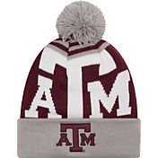 New Era Men's Texas A&M Aggies Grey/Maroon Logo Whiz 2 Knit Beanie