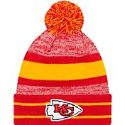 New Era Men's Kansas City Chiefs Cuffed Pom Red Knit Hat