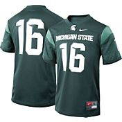 Nike Boys' Michigan State Spartans #16 Green Game Football Jersey