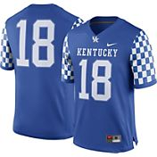 Nike Men's Kentucky Wildcats #18 Blue Game Football Jersey
