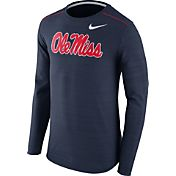 Nike Men's Ole Miss Rebels Blue Player Dri-FIT Touch Performance Long Sleeve Shirt