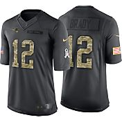 Nike Men's Home Limited Jersey New England Patriots Tom Brady #12 Salute to Service 2016