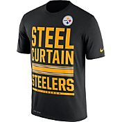 Nike Men's Pittsburgh Steelers 'Steel Curtain' Performance Black T-Shirt