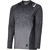 Nike Men's Pro Warm Talistatic Printed Long Sleeve Fitted Shirt