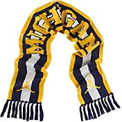 Jordan Michigan Wolverines Jacquard Knit Scarf
