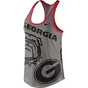 Nike Women's Georgia Bulldogs Grey Dri-Blend Gear Up Racerback Tank