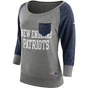 Nike Women's New England Patriots Tailgate Vintage Crew Grey Long Sleeve Shirt