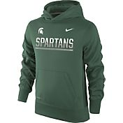 Nike Youth Michigan State Spartans Green Therma-FIT Hoodie