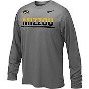 Nike Youth Missouri Tigers Anthracite Staff Sideline Long Sleeve Shirt
