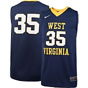 Nike Youth West Virginia Mountaineers #35 Blue Replica ELITE Basketball Jersey