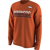 Nike Youth Denver Broncos Team Practice Orange Long Sleeve Shirt