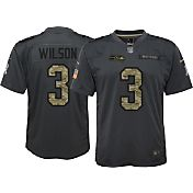 Nike Youth Home Game Jersey Seattle Seahawks Russell Wilson #3 Salute to Service 2016