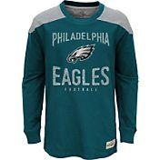 NFL Team Apparel Youth Philadelphia Eagles Legend Teal Long Sleeve Shirt
