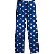NFL Team Apparel Youth New York Giants Team Print Royal Jersey Pants