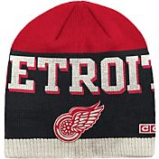 CCM Men's Detroit Red Wings Wordmark Knit Beanie