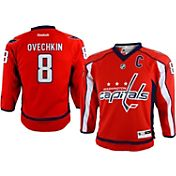 Reebok Youth Washington Capitals Alex Ovechkin #8 Replica Home Jersey