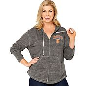 Soft As A Grape Women's New York Mets Grey Hoodie