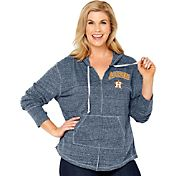 Soft As A Grape Women's Houston Astros Navy Hoodie