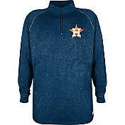 Stitches Men's Houston Astros Navy Quarter-Zip Pullover Fleece