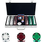 Trademark Poker 300 Tri Color Suited Chip Poker Set and Case